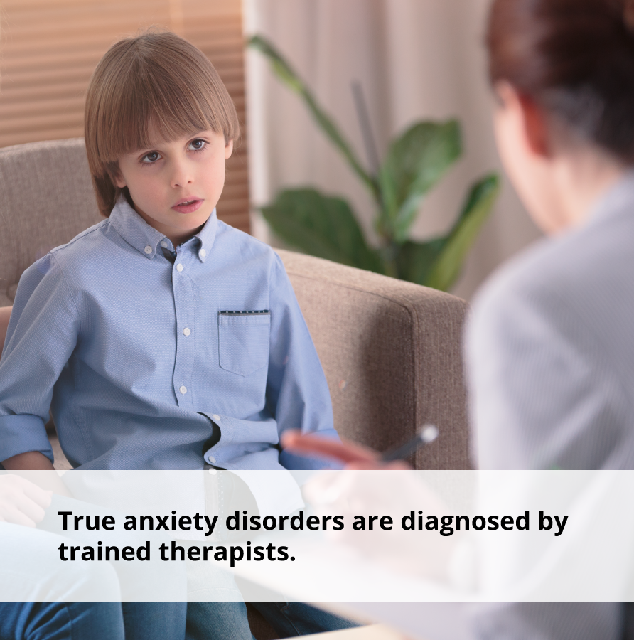 True anxiety disorders are diagnosed by trained therapists who will employ anxiety management techniques.