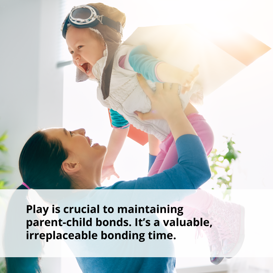 Play creates parent-child bonds and helps children to become confident