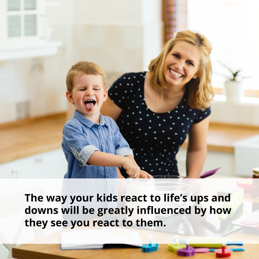 If you adopt positive thinking, your kids will model that behavior.