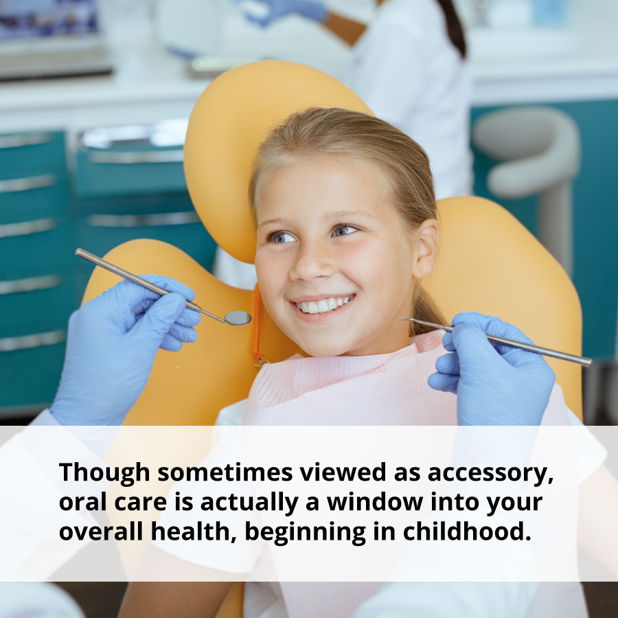 In addition to the power of a smile, oral care is a window to your overall health.