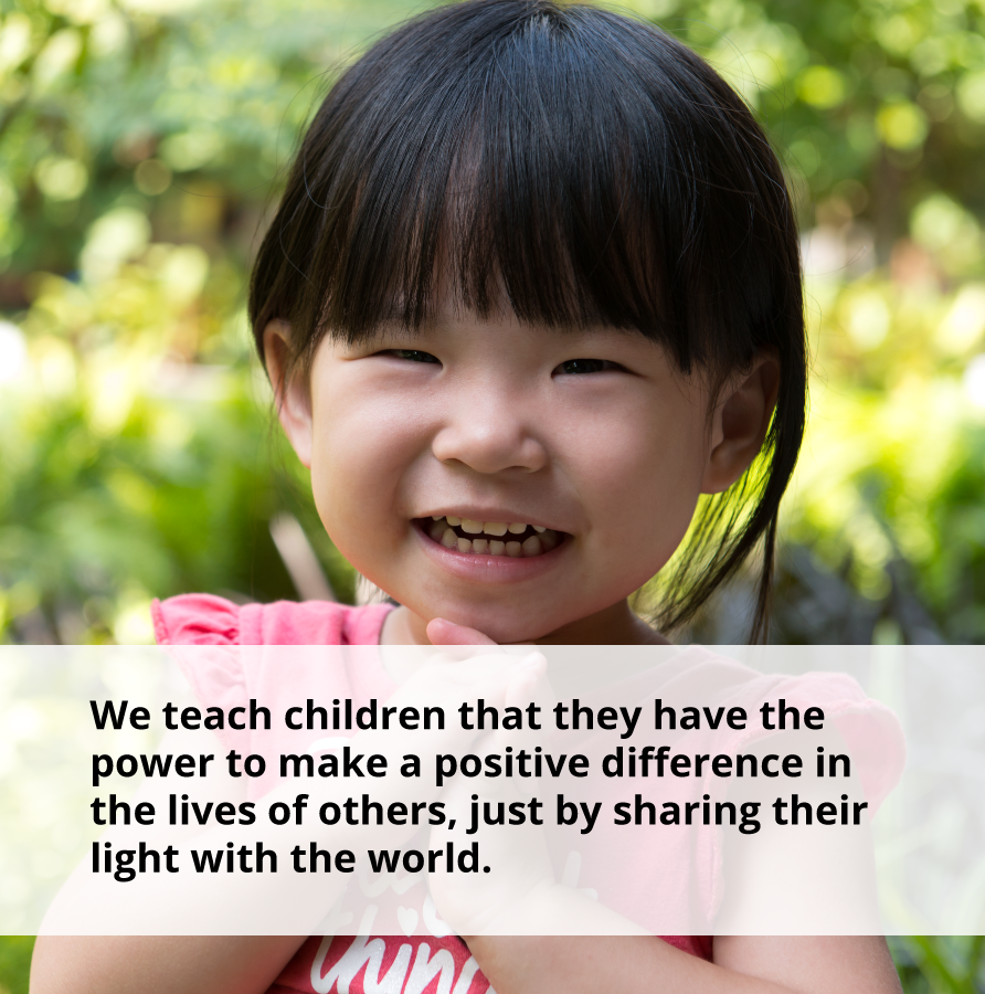 With the power of a smile, kids can make a positive difference in the lives of others.