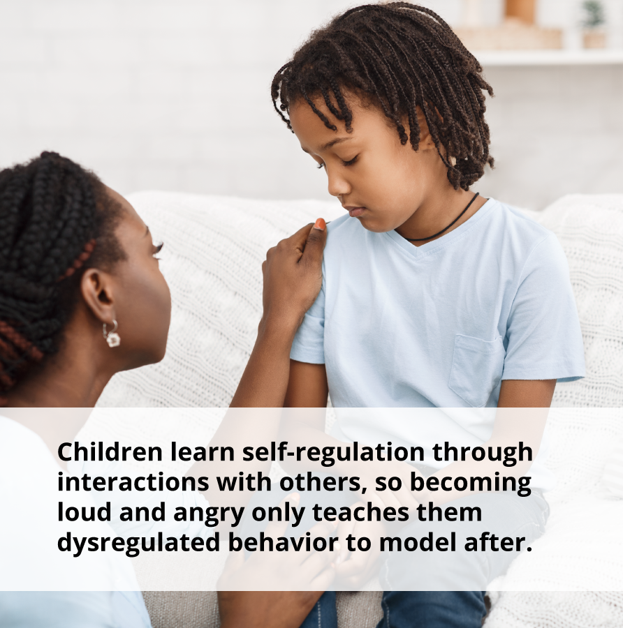 Children can alleviate stress and learn self-regulation through interactions with others.