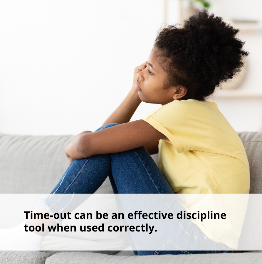 Time-out can alleviate stress when used correctly.