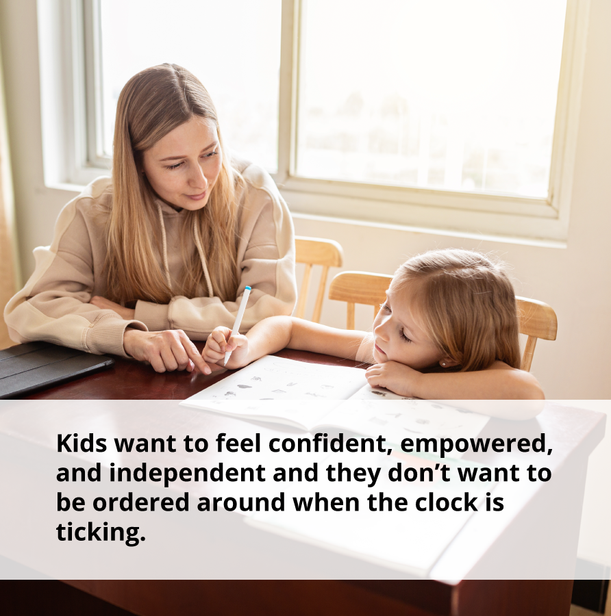 You may want to take control of your life, but kids don't want to be ordered around.