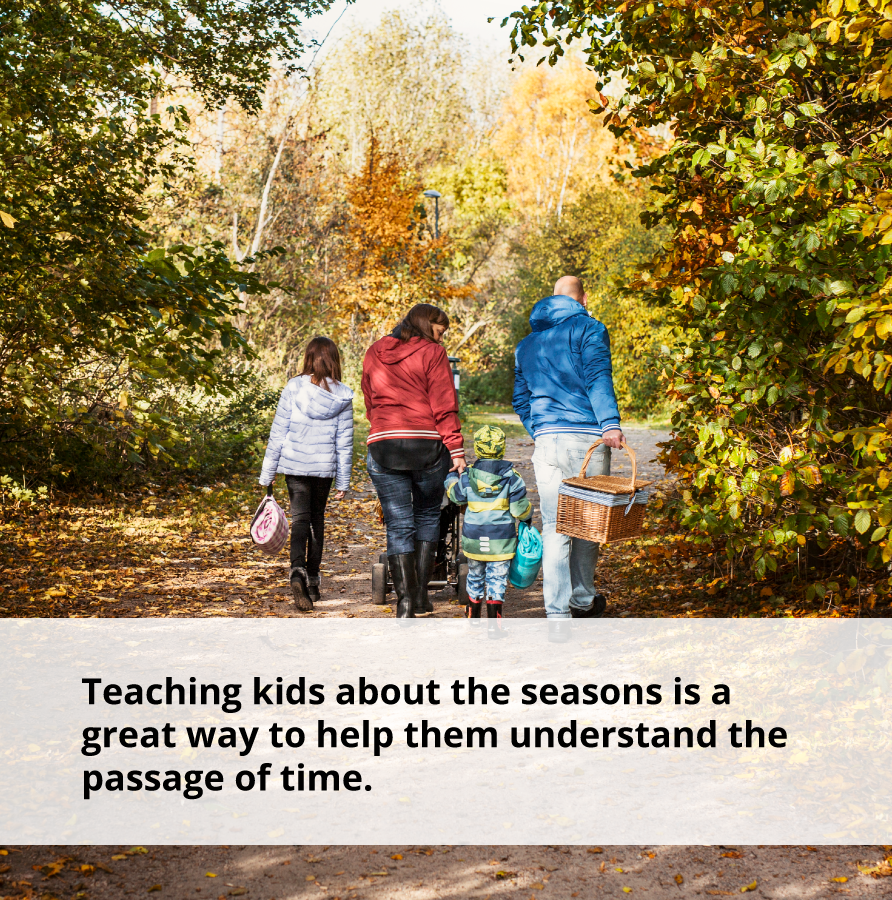 Teaching kids about the seasons helps them understand the passage of time and how to take control of your life.