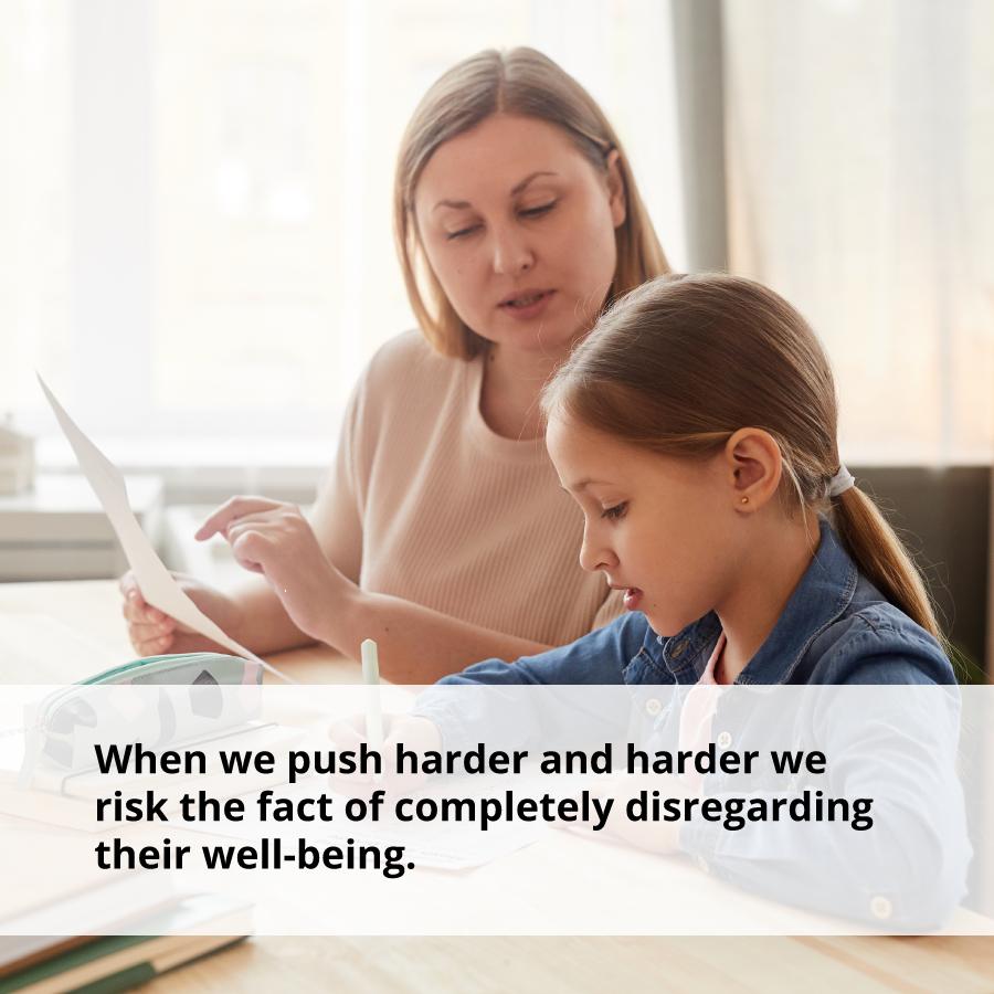 When we push children harder, we risk disregarding their well-being.