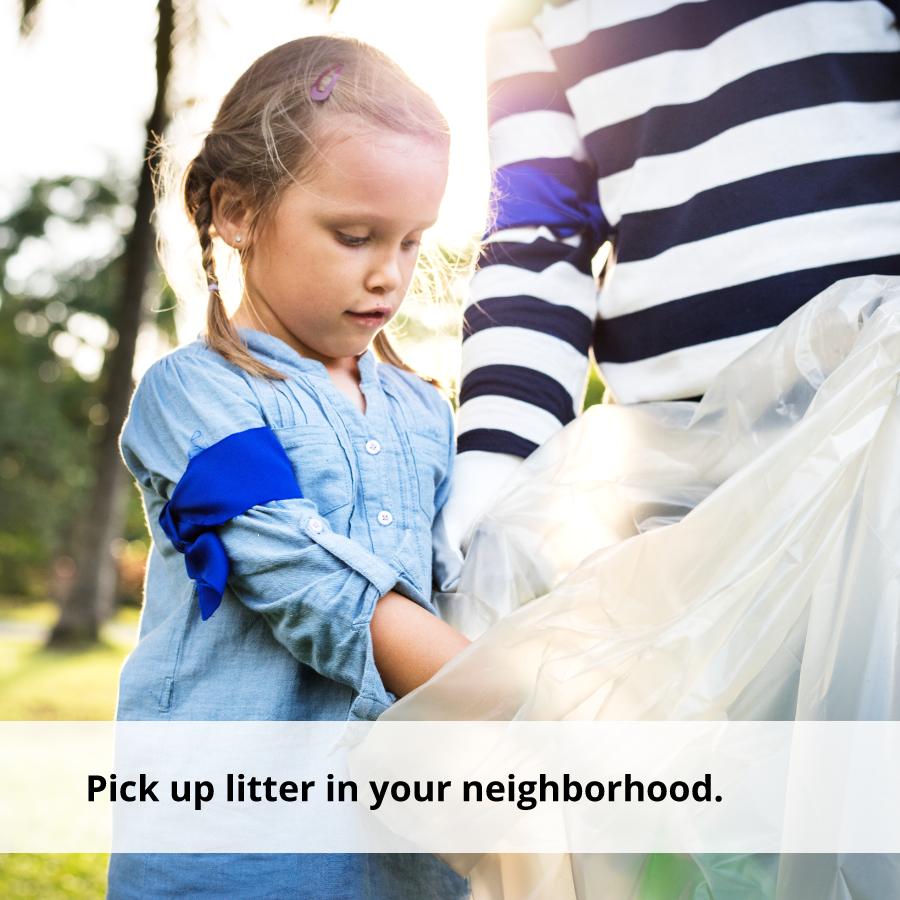 Picking up litter can help teach emotional awareness.