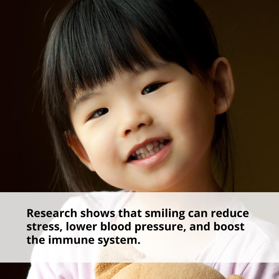 Smiling has health benefits.