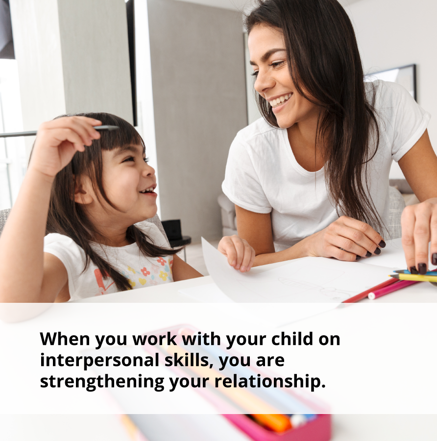 Working with your child on smiling will strengthen your relationship.